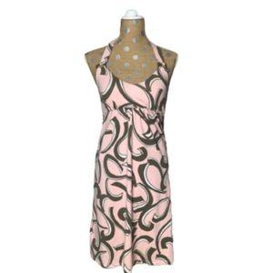 Tommy Bahama Pink/Gray Halter Dress Size S